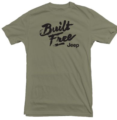 Jeep Built Free Military Green T-Shirt