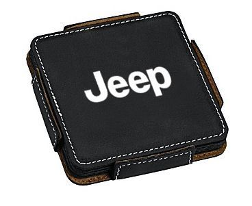 Jeep Faux Leather Coaster - 4 Pack
