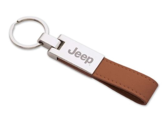 Jeep Faux Leather Strap Keychain