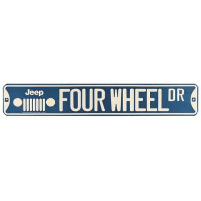 Jeep Four Wheel Street Sign