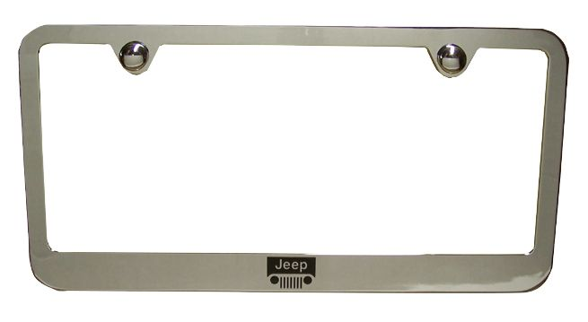 Jeep Grill Chrome License Plate Frame