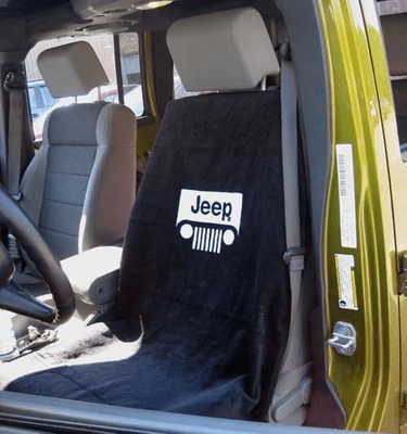 Jeep Grill Logo Black Seat Towel