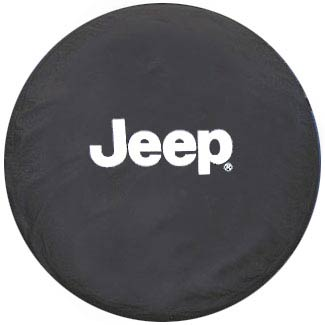 Jeep Logo Black Spare Tire Cover
