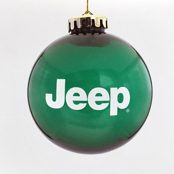 Jeep Christmas Ornament.Jeep Round Shatterproof Ornament