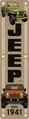Jeep Since 1941 Vertical Tin Sign