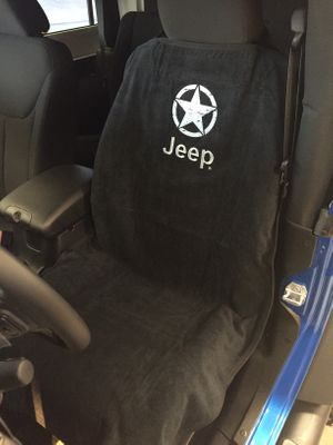 Jeep Star Embroidered Seat Towel