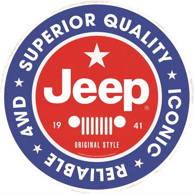 Jeep Superior Quality Tin Sign