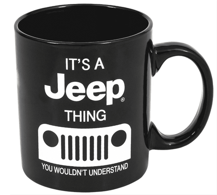 16oz  Jeep Thing Black Mug