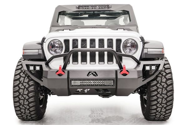 Fab Fours Vengeance Front Bumper with Pre-Runner Guard for 2018-2021 Wrangler JL and 2020 Gladiator JT