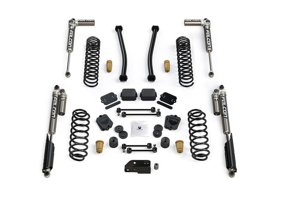"Teraflex 2.5"" Sport S/T2 Suspension System with Falcon 3.1 Piggyback Shocks for Wrangler JL"