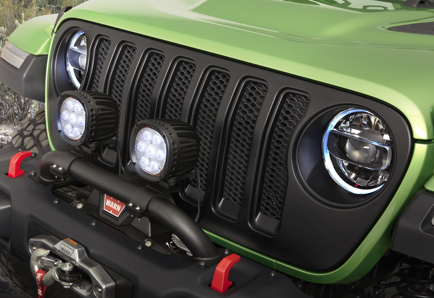 Mopar Satin Black Grill for 2018-2021 Wrangler JL