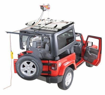 Lange Originals Electric Power Hoist-A-Top for Wrangler JL