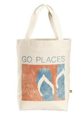 Life is Good Go Places Flip Flip Tote