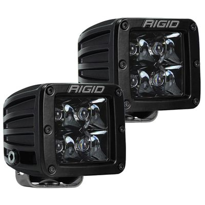 "Rigid Industries Midnight Edition D-Series Pro 3"" LED Surface Mount Cube Lights (Comes as Pair)"