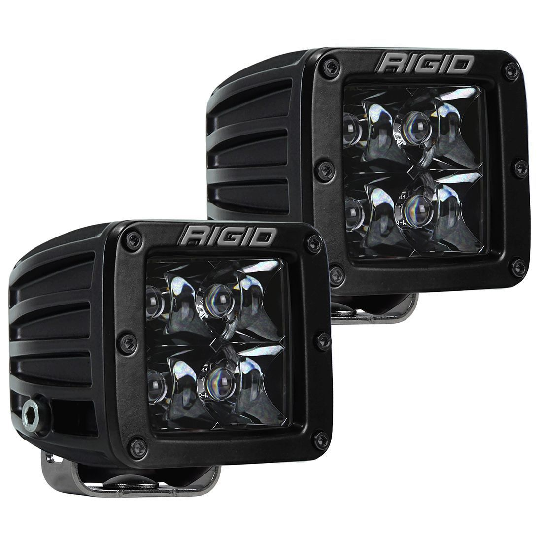 """Rigid Industries Midnight Edition D-Series Pro 3"""" LED Surface Mount Cube Lights (Comes as Pair)"""