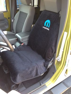 Mopar Logo Embroidered Seat Towel