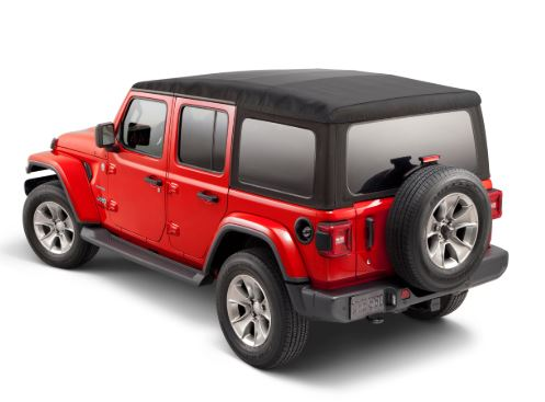 Mopar Soft Top Premium Twill Fabric (Black) for 2018-2021 Wrangler JL 4-Door