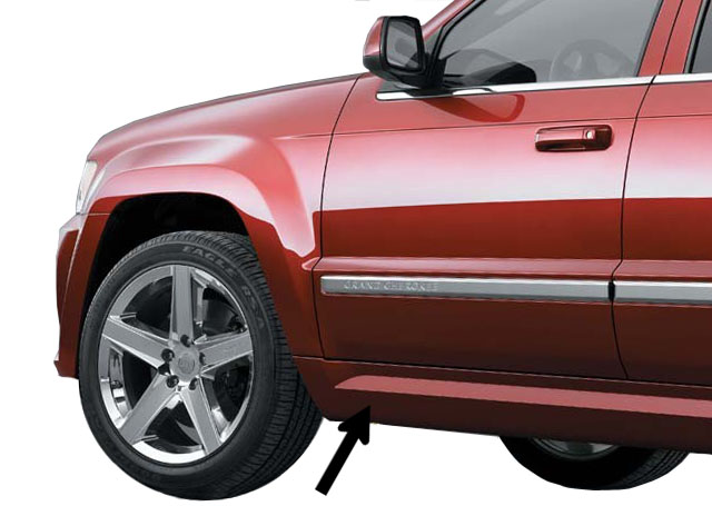 Mopar Passenger Side - SRT8 Side Rocker Molding for 2005-2010 Grand Cherokee WK