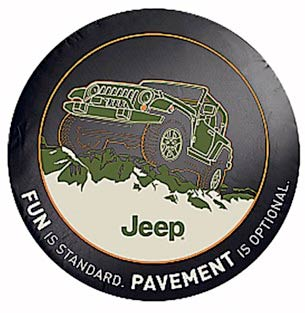 Mopar Pavement is Optional Tire Cover for 1997-2018 Wrangler TJ/JK and 2002-2007 Liberty KJ