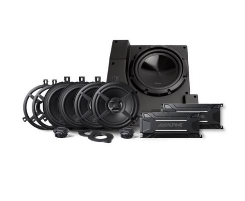 Alpine PSS-22WRA Weatherproof Direct fit Complete Speaker System for '07-'18 4 Door Wrangler JK