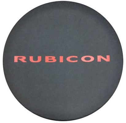 Red Rubicon Tire Cover