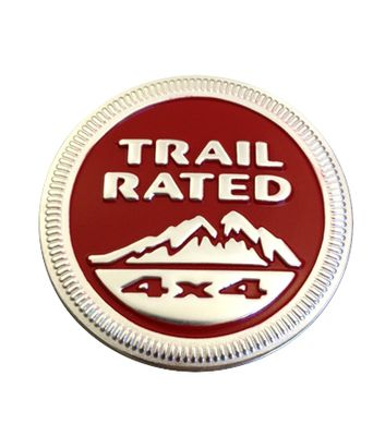 Red Trail Rated Badge Decal