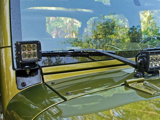 Rigid Industries A-Pillar Mount Kit (Dually, D2, DXL, & R-46 Series Lights) for Wrangler JK