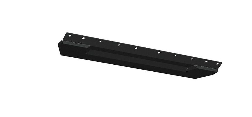 Road Armor Spartan Front Bumper Bolt-On Skid Plate Guard in Texture Black for 2018-2021 Wrangler JL and 2020 Gladiator JT