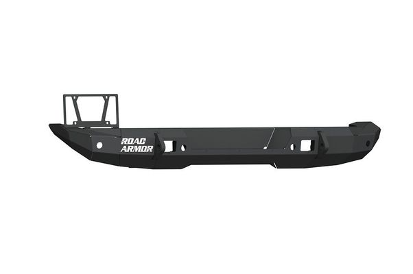 Road Armor Stealth Rear Bumper Mid Width ONLY, with Tire Carrier Hole in Texture Black for 2018-2021 Wrangler JL
