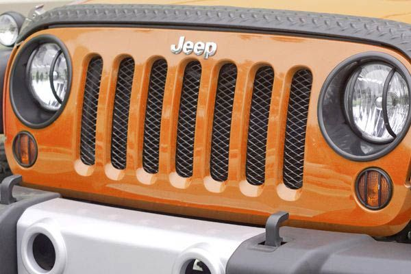 Rugged Ridge Black Mesh Grille Insert Wrangler JK 2007-2018