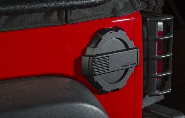 Rugged Ridge Elite Fuel Door for JK Wrangler
