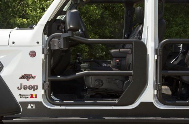 Rugged Ridge Front Tube Doors with Mirrors for 2018-2019 Wrangler JL/2020 Gladiator JT