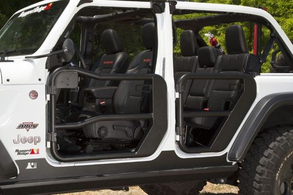 Rugged Ridge Front Tube Doors for 2018-2019 Wrangler JL/2020 Gladiator JT