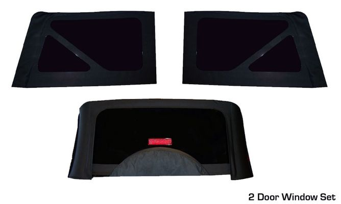 JK Wrangler Soft Top Replacement Windows