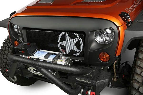 Rugged Ridge Spartan Grille Star Mesh