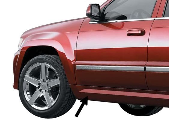 Mopar SRT8 Side Rocker Moldings for 2005-2010 Grand Cherokee WK