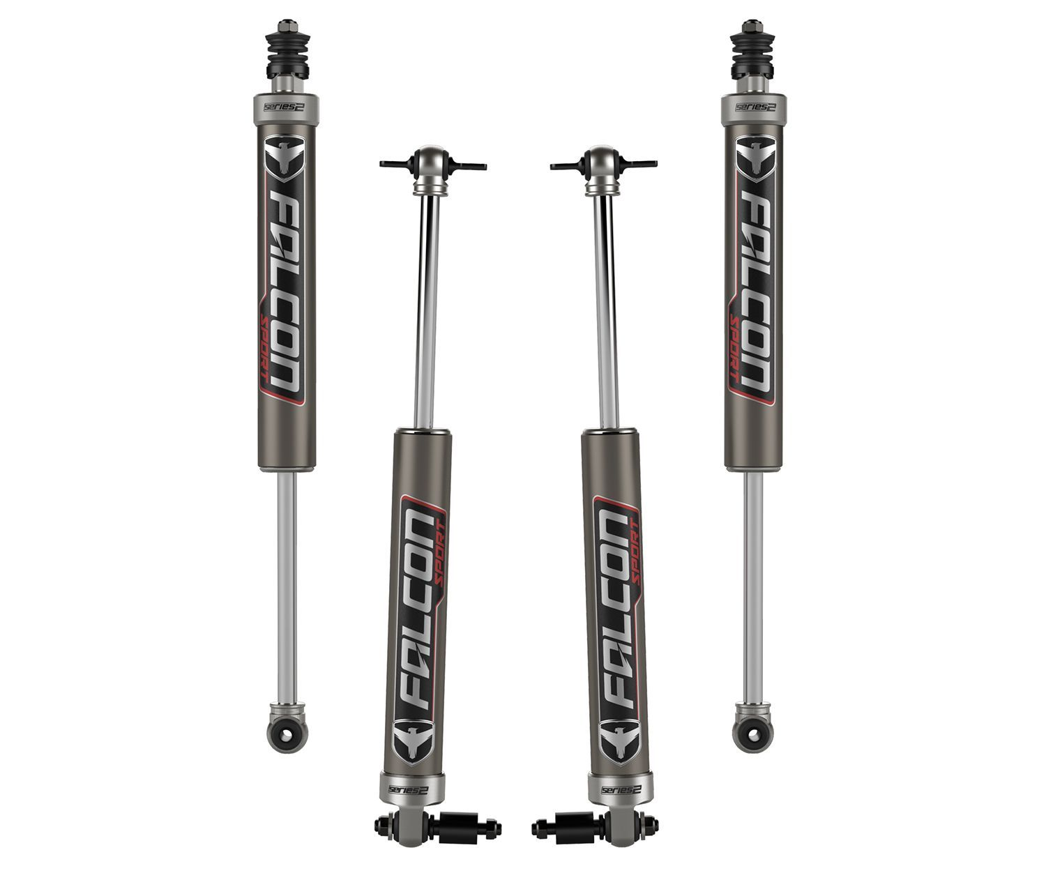 "Teraflex 1.5-2"" Lift Falcon Series 2.1 Sport Monotube Shock Absorber Kit - All 4 for Wrangler JK"