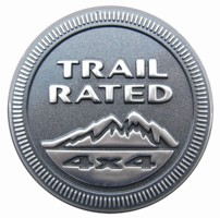 Mopar Trail Rated Badge Decal for multiple Jeeps