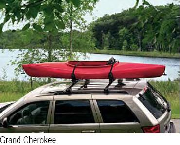 Mopar Watersports Equipment Roof Mount Carrier for Multiple Jeeps