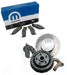 Mopar Front and Rear Pads & Rotors for 1999-2004 Grand Cherokee WJ