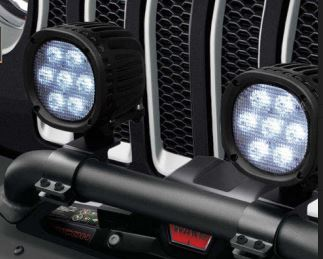 Mopar 7-Inch Off-Road LED Light Kit for 2018-2020 Wrangler JL