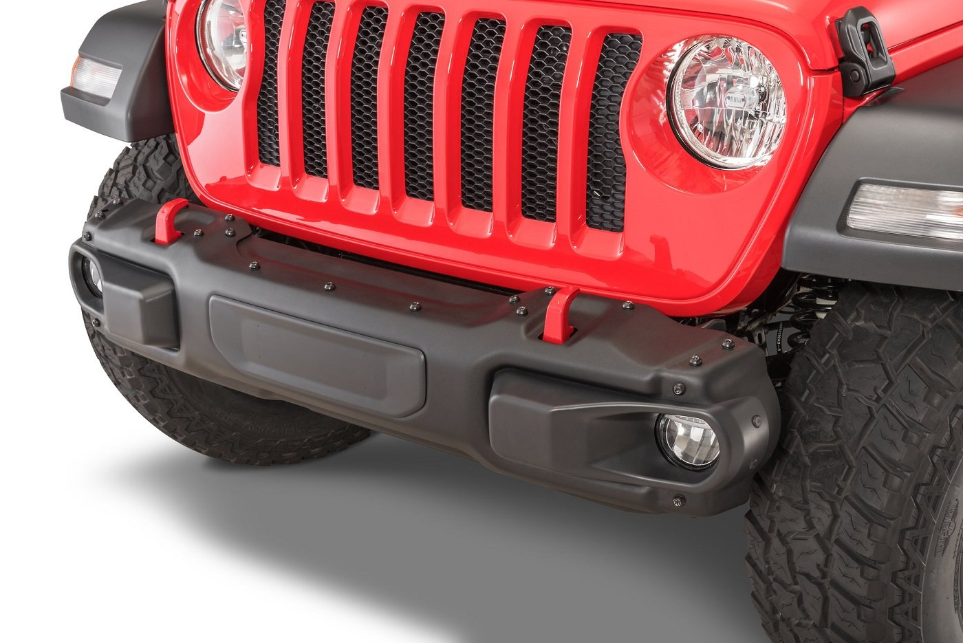 Mopar Rubicon Steel Stubby Front Bumper for Wrangler JL and Gladiator JT