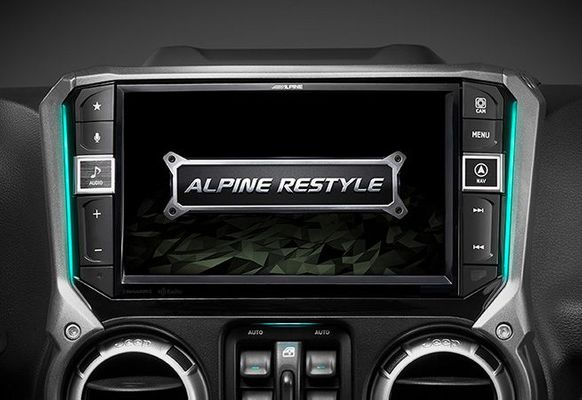 "Alpine X409WRA-JK 9"" Weather-Resistant Navigation System with Off-Road Mode for 2007-2018 Wrangler JK"