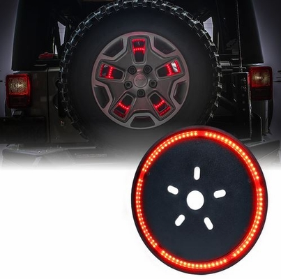 "Xprite 14"" Cyclone Series Spare Tire LED Brake Light For Wrangler JK"