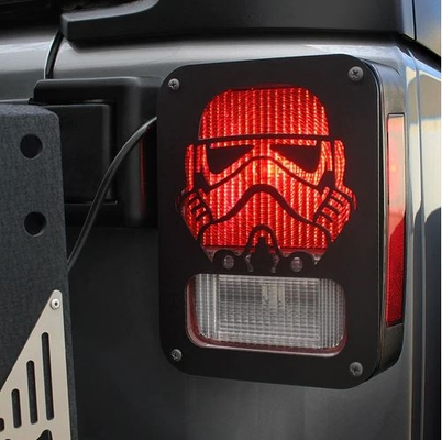Xprite Black StormTrooper Rear Taillight Cover for Wrangler JK