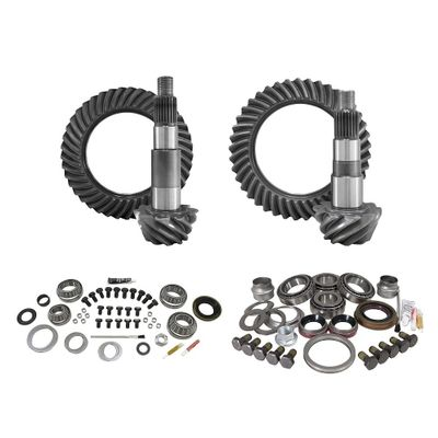 Yukon Gear & Axle Front and Rear Ring and Pinion with Master Install Kits for 2007-2018 Wrangler JK with Dana 44 Front and Dana 44 Rear Axles