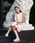 Airfish Elegant Baby Pink Liv Dress Oversized Bow 4/5 10/11