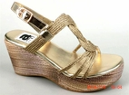 Amiana Gold Braided Top Tween Girls Wedge Sandals 39/ 8