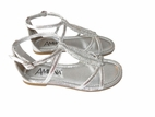 Amiana Silver Leaf Desiign Sparkly Girls Sandals 11 13 1 2 6