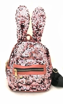 Amiana Pink Sequin Bunny Ears Girls Packpack